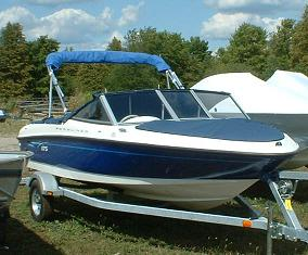 Retractable boat shade canopy frame and mounting system & BOAT CANOPY TOP | RAINWEAR